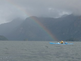 Guide Paul Nylund goes after the pot of gold. Boulder Bay 2005.