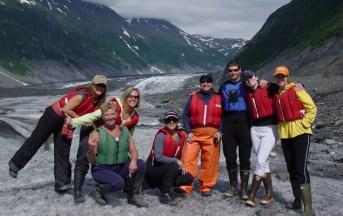 Hiking group at Valdez Glacier