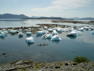 Surreal landscapes are par for the course in Prince William Sound, Columbia Glacier