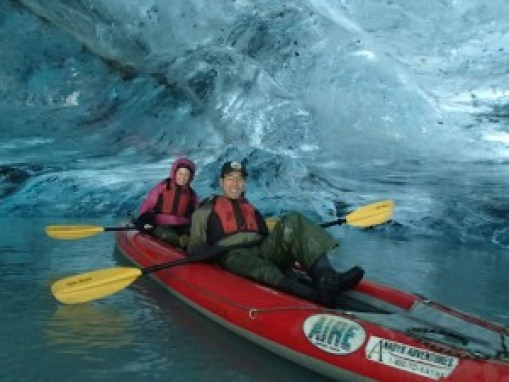 Ice cave at the Valdez Glacier