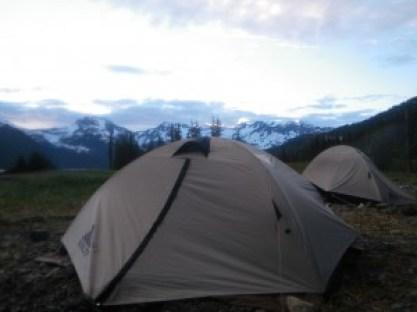 Camping in Unakwik Inlet