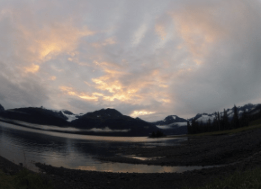 Our beautiful campsite for the first two nights. Unakwik Inlet