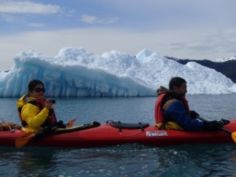 Have you paddled this close to an iceburg before?