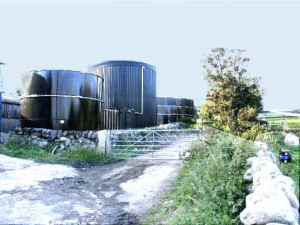 Image for pdf showing: A biogas plant in Scotland.