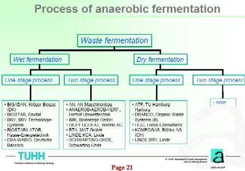 Image shows the options for anaerobic digestion of municipal solid waste. (TUHH Anaerobic MSW Process)