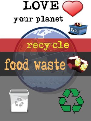 "Image says ""recycle food waste for digestion"" including Anaerobic Digestion of Food Waste."