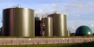 Typical anaerobic digestion plant