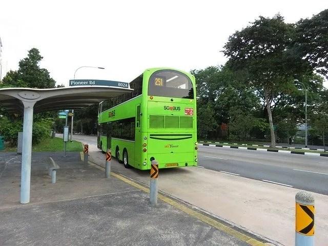 A biogas powered bus.