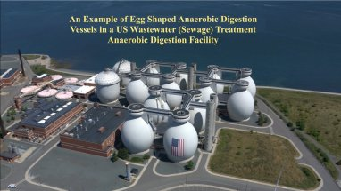 Egg-Shaped Anaerobic Digestion Vessels at a type of plant which could be used for Food Waste Anaerobic Digestion.