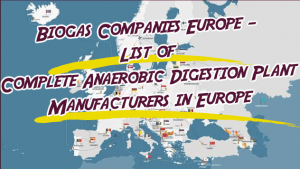 Image shows our list of biogas companies Europe.