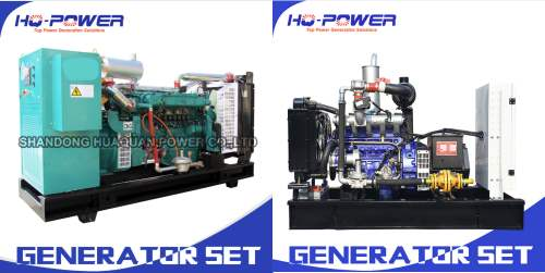 Image shows Chinese gensets available for natural gas/ biomethane.