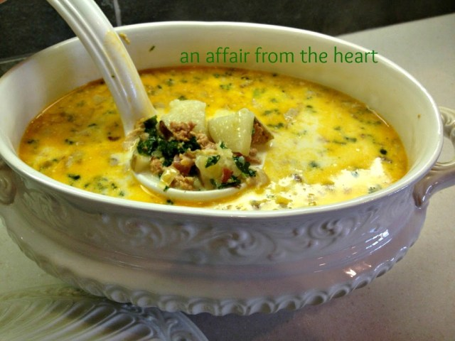 Olive garden night at home salad dressing zuppa toscana recipes an affair from the heart for How much is soup and salad at olive garden