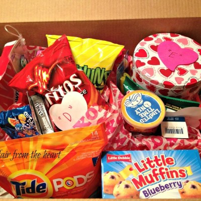 College Care Package – Valentine Style