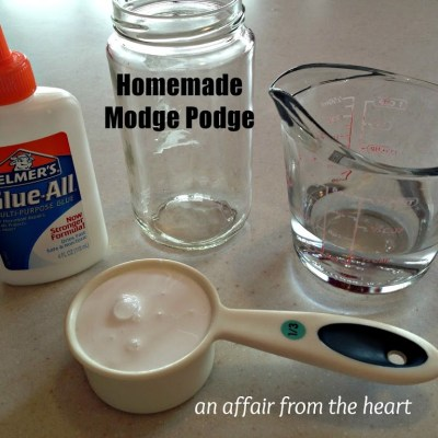 How to Make: Homemade Modge Podge