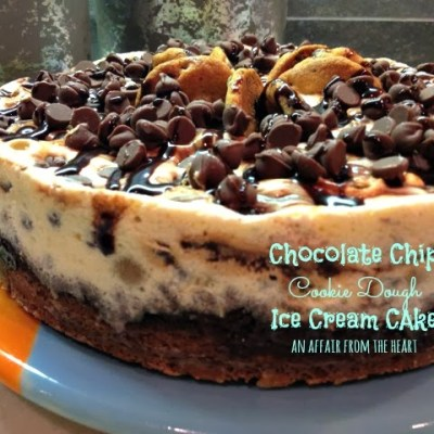 Chocolate Chip Cookie Dough Ice Cream Cake