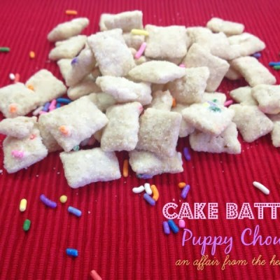 Cake Batter Puppy Chow (Muddy Buddies)