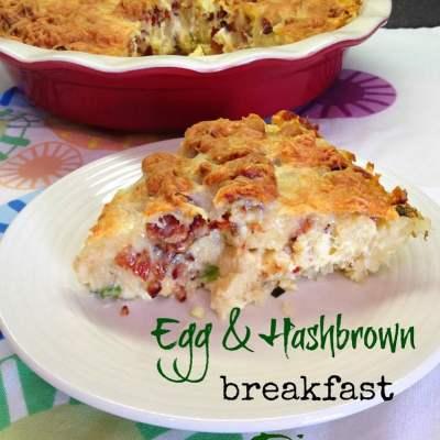 Egg & Hash Brown Breakfast Pie