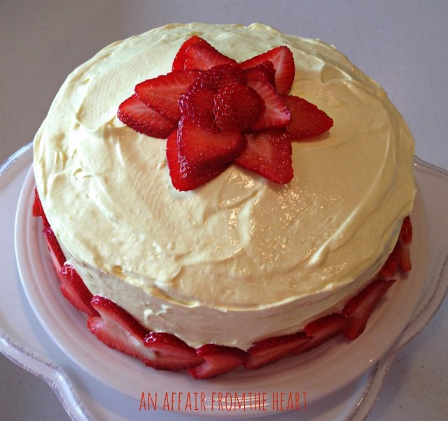 Strawberry Lemonade Layer Cake: An Affair From The Heart