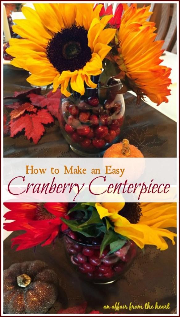 Cranberry Centerpiece