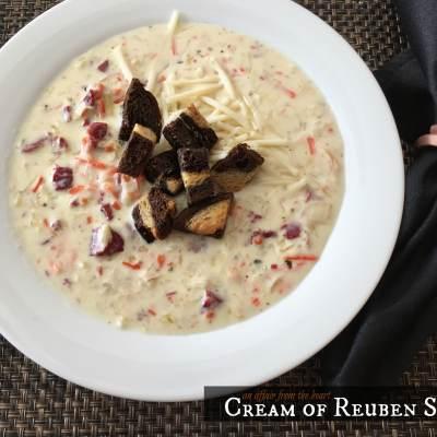 Cream of Reuben Soup
