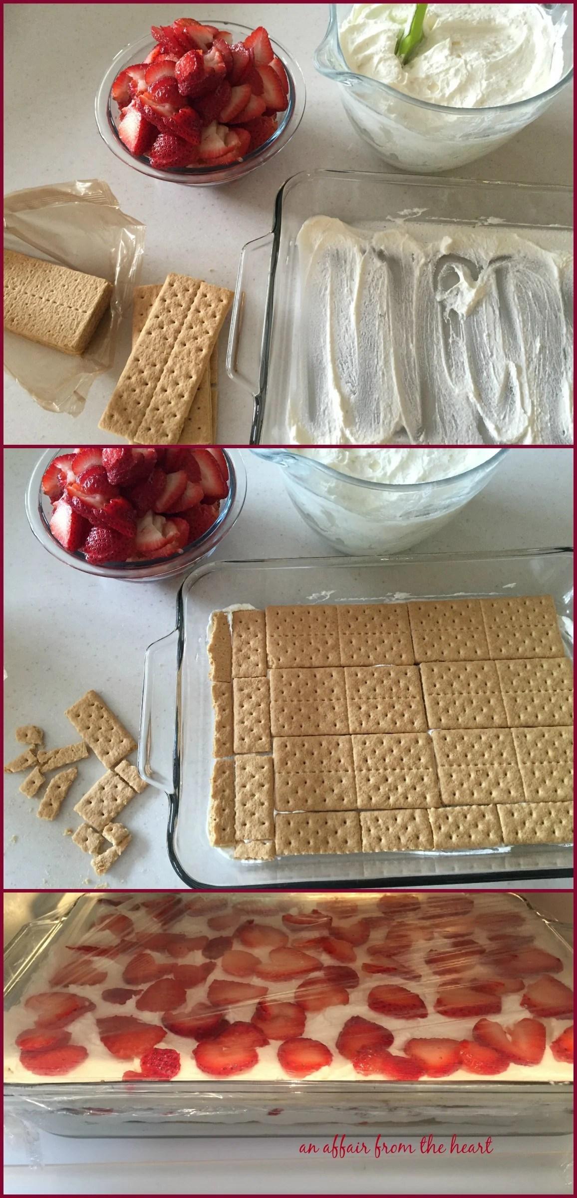 Strawberry Chill Icebox Cake
