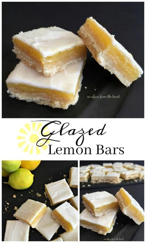 Glazed Lemon Bars - An Affair from the Heart