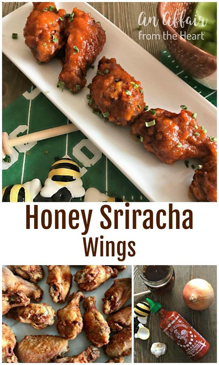 Honey Sriracha Wings - An Affair from the Heart