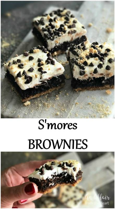 S'Mores Brownies- An Affair from the Heart