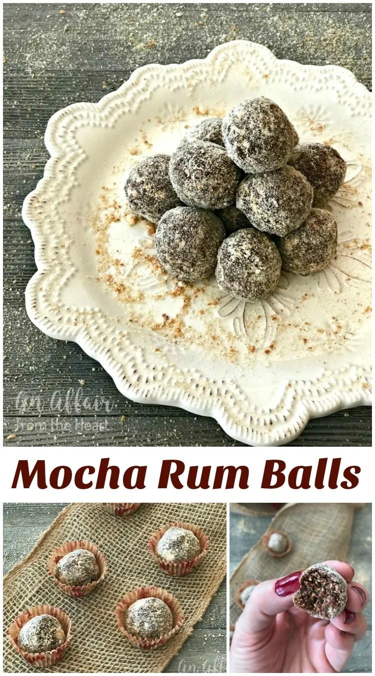 Mocha Rum Balls - An Affair from the Heart