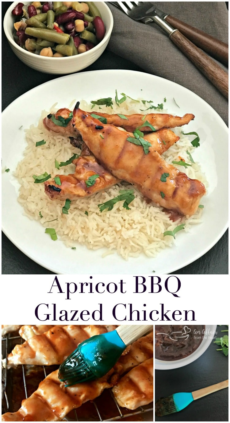 Apricot BBQ Glazed Chicken - An Affair from the Heart