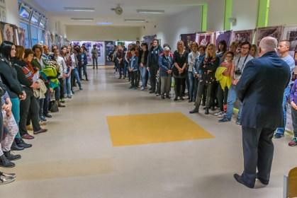 Odprtje razstave na OŠ Frana Metelka Škocjan
