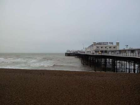 Brighton beach, early in the morning