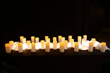 Twenty-eight candles, one for each of the victims of the Sandy Hook tragedy