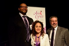 Jimmy Greene, Nelba Márquez-Greene and Dr. Steven Girelli