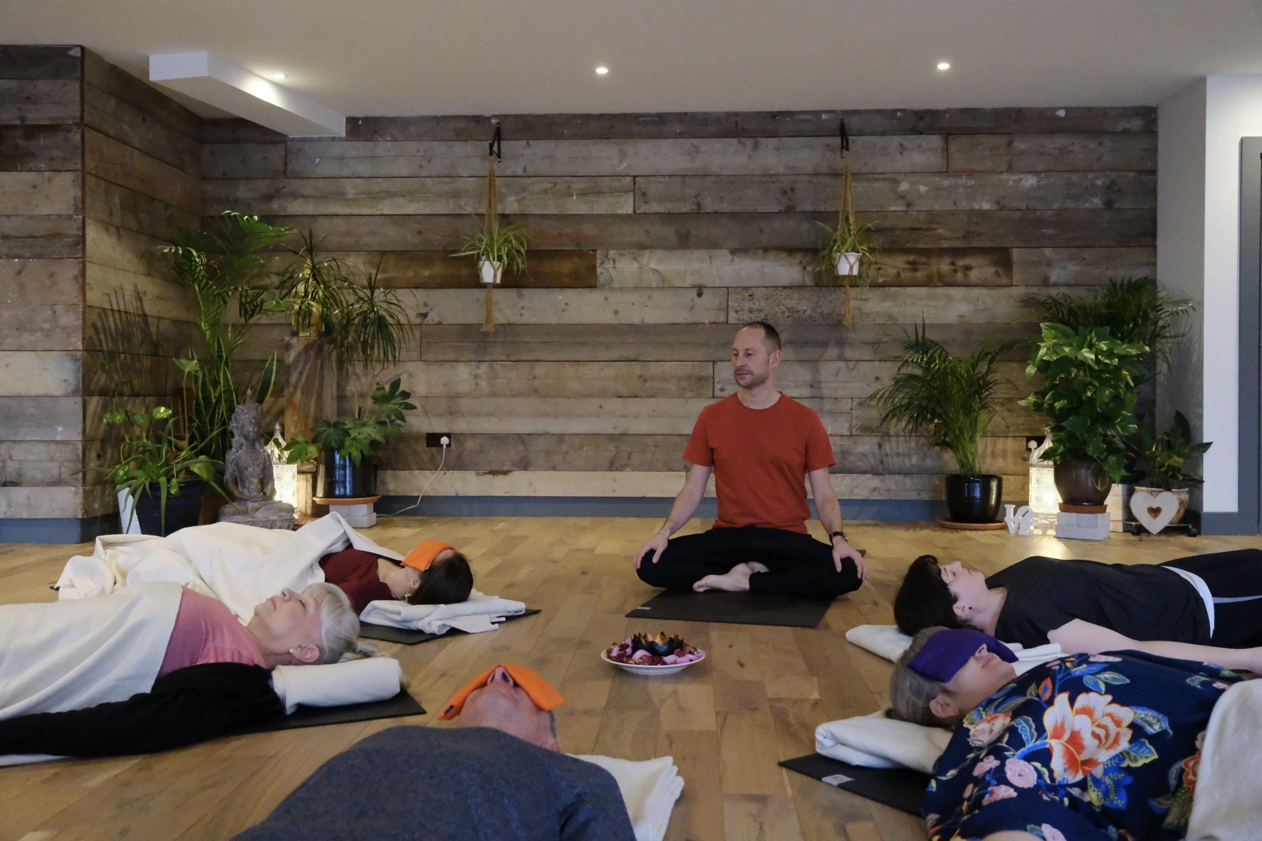 Daniel Groom teaching yoga nidra