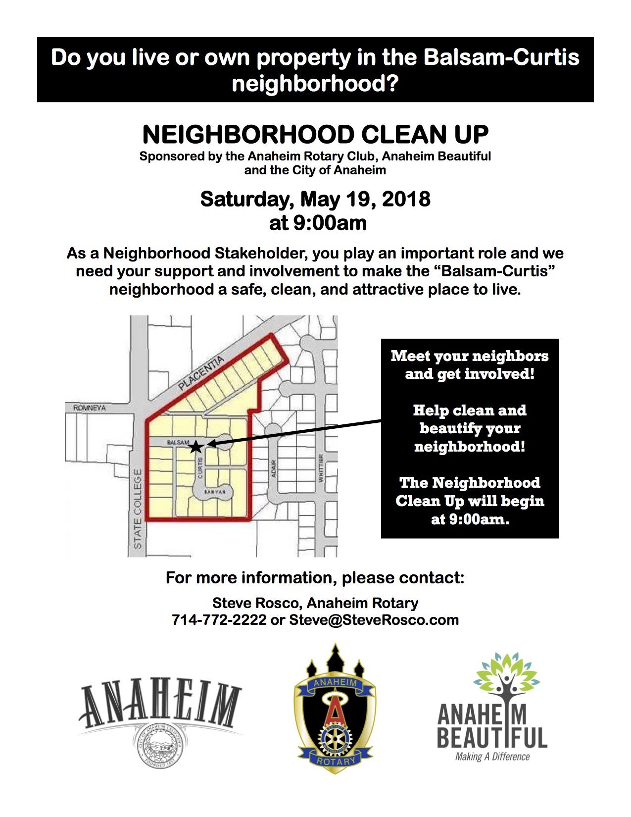 Spring Clean-Up Scheduled – Anaheim Beautiful