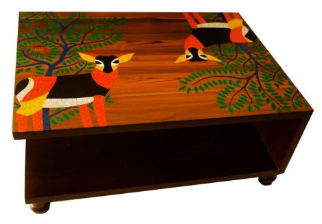 gond painted coffee table
