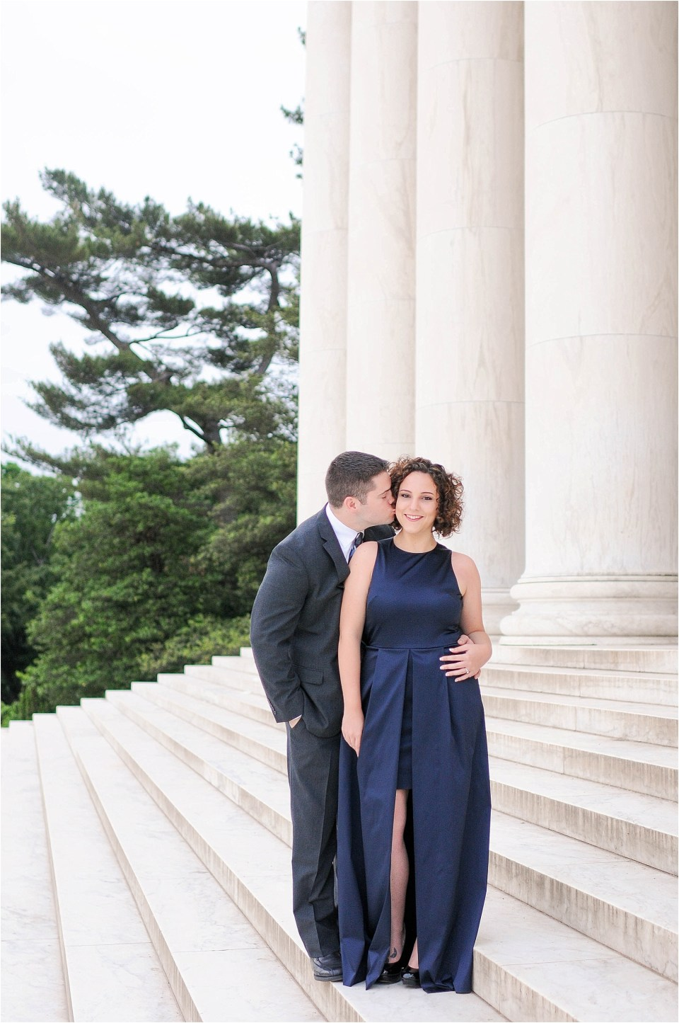 Classic Washington DC engagement session at the Jefferson Memorial13