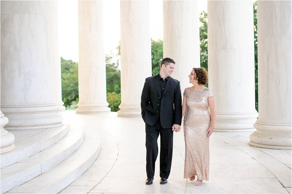Classic Washington DC engagement session at the Jefferson Memorial47