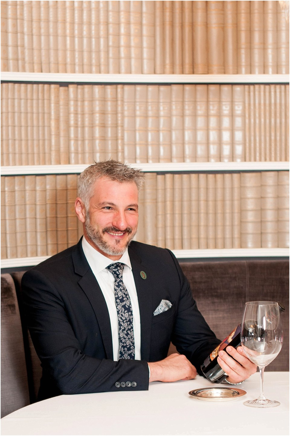 Sommelier and Wine Director David Metz at Michelin Star restaurant Plume in a luxury hotel The Jefferson Hotel 3