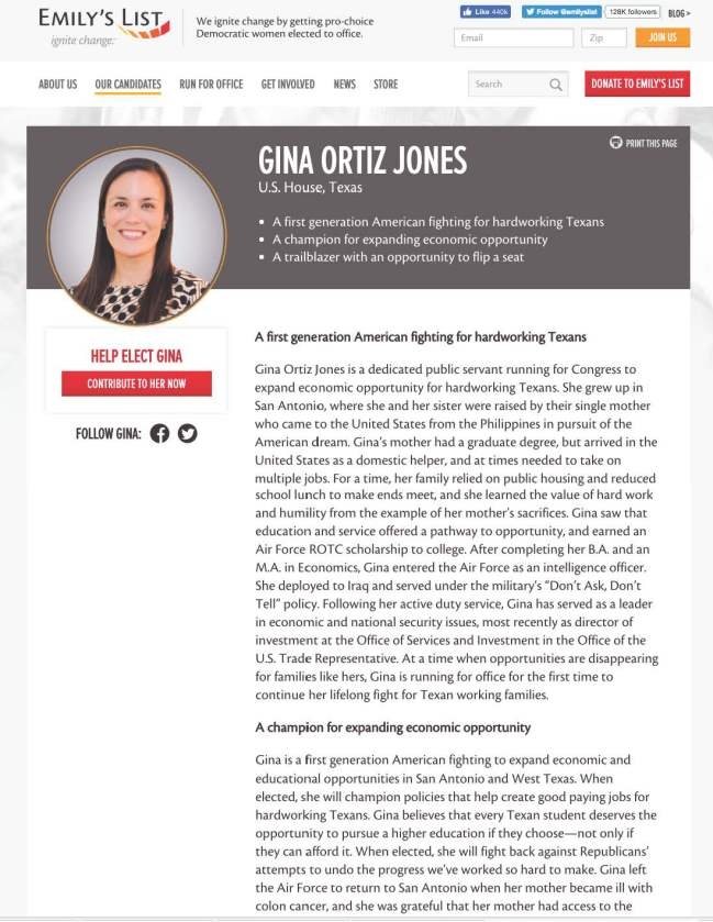 Gina Ortiz Jones is endorsed by Emily's List by Ana Isabel Photography