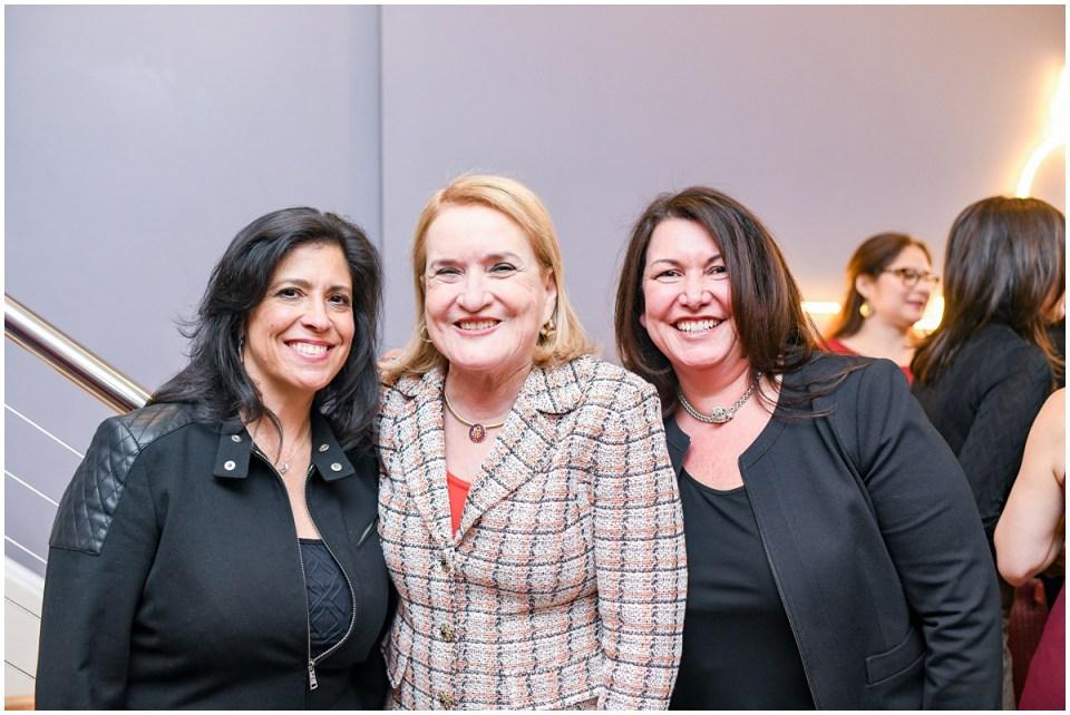 Congresswoman Sylvia Garcia, Ingrid Duran, Catherine Pino