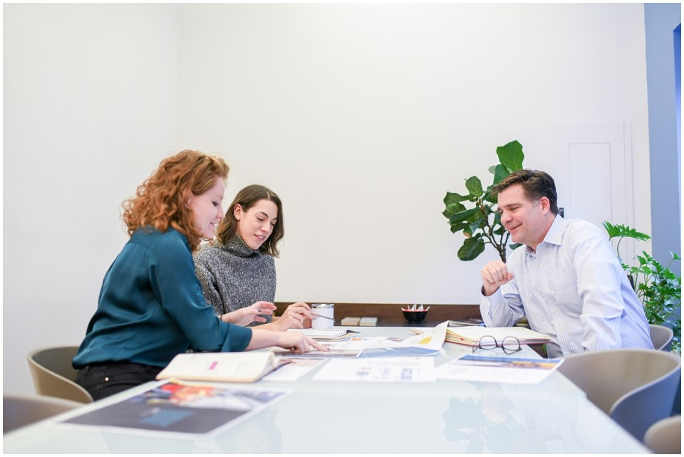 Marketing photos for communications firm