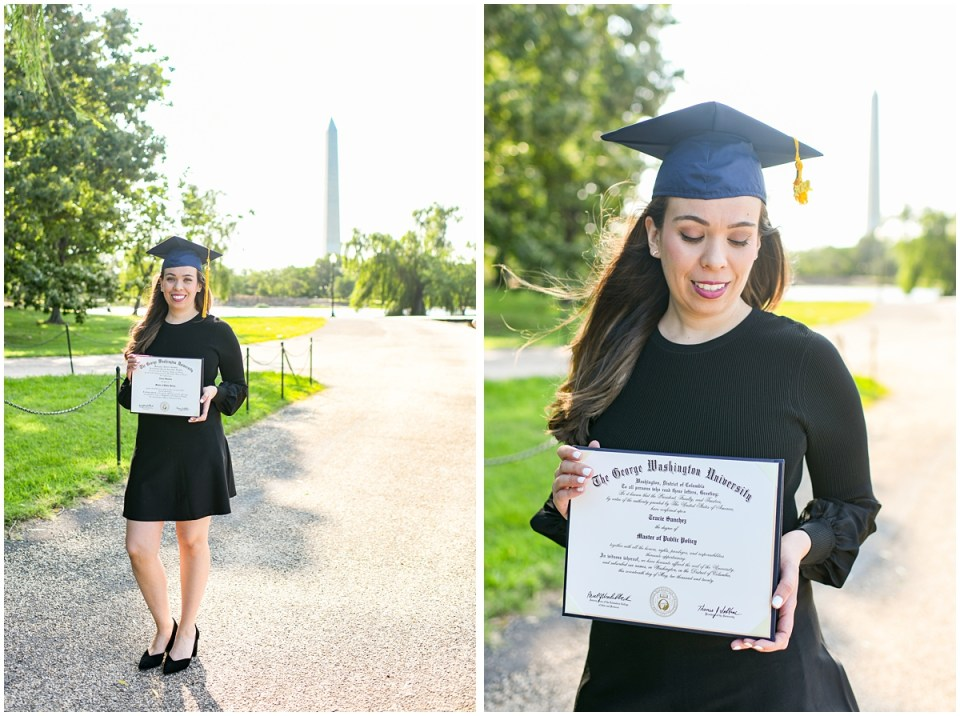 Graduation photos at the Monuments