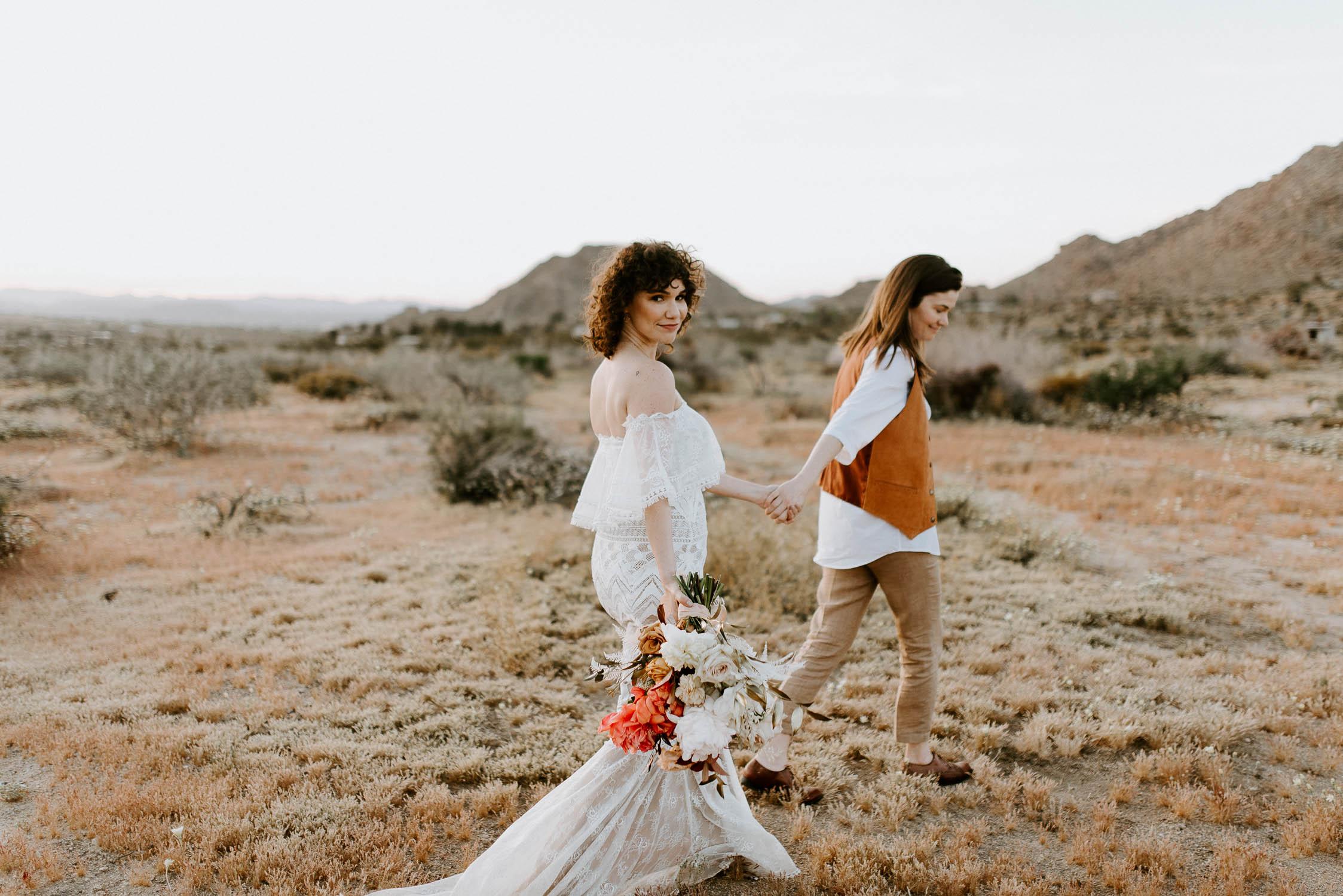 Joshua Tree Same-Sex Wedding | Thelma+Louise - Anais