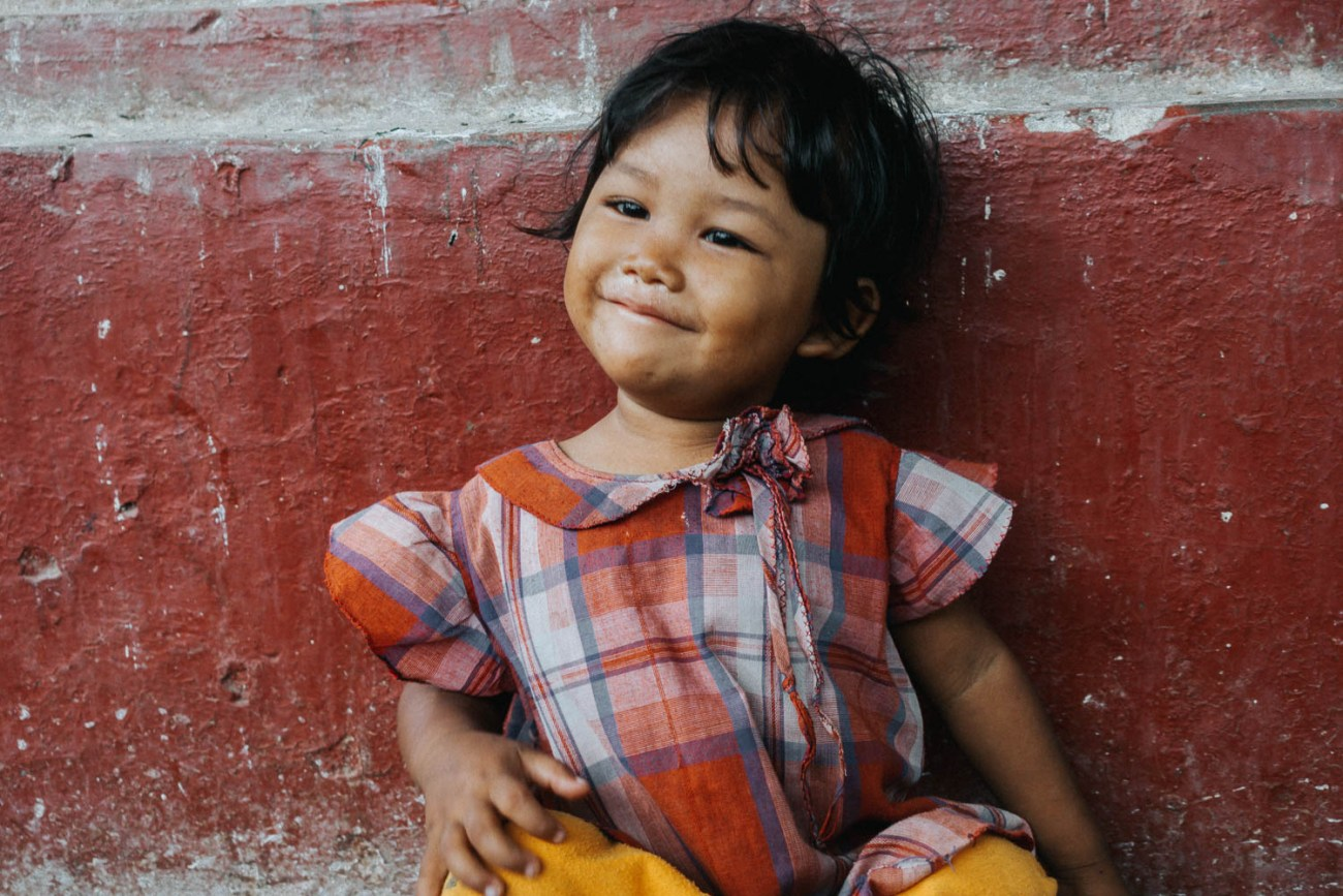 Myanmar kid portrait