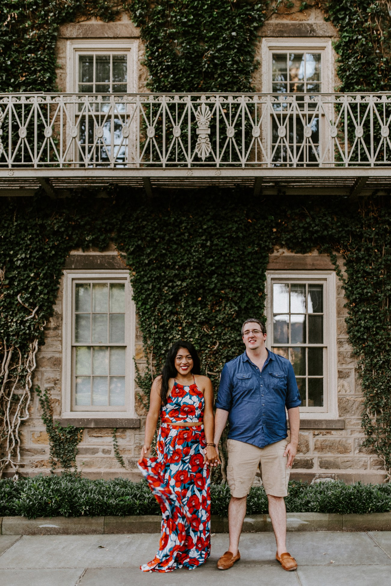 Princeton University Summer Engagement Photos in Princeton New Jersey