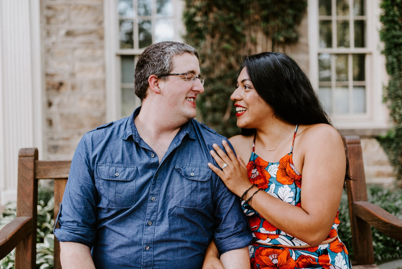 Fun engagement session in Princeton University new Jersey