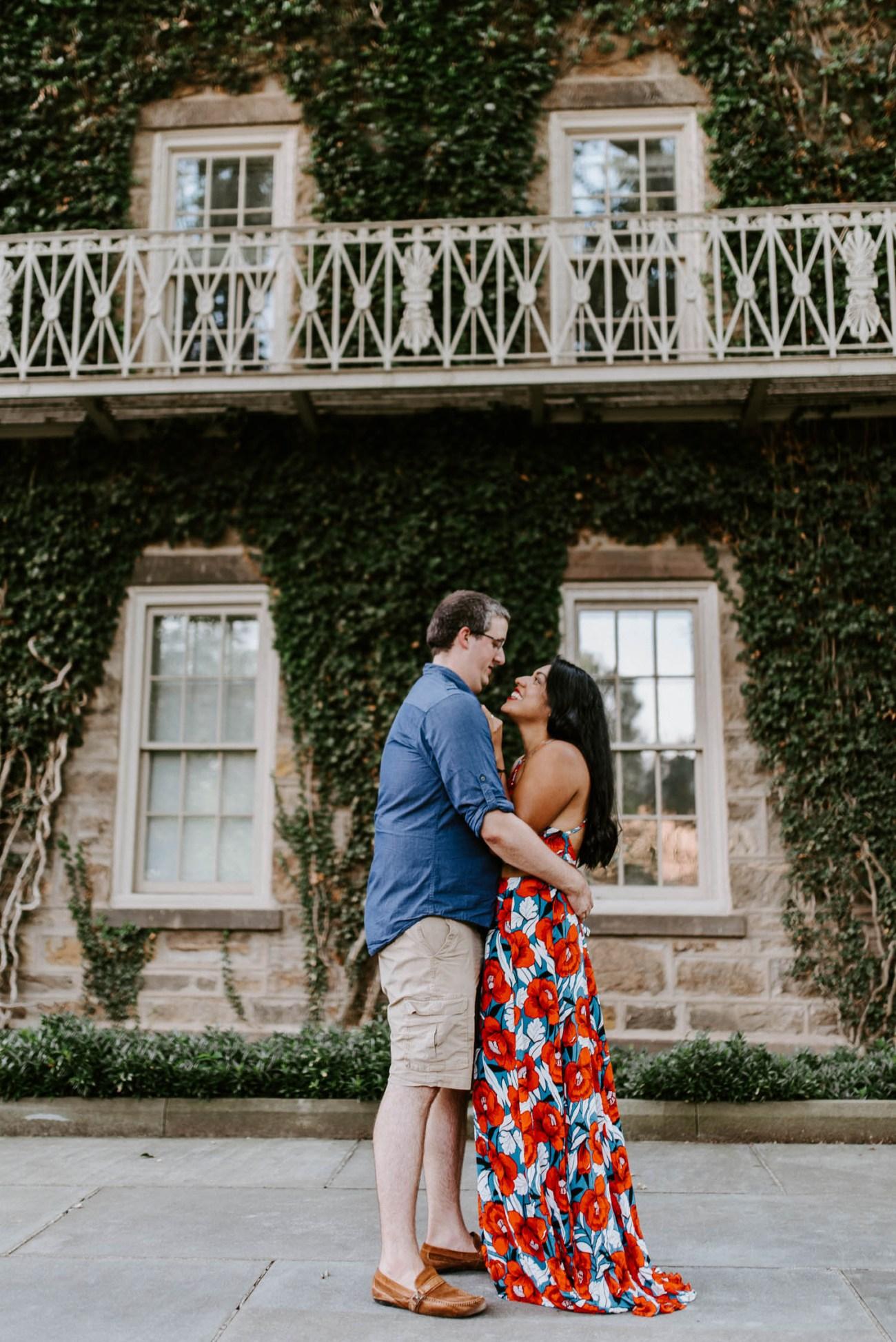 Princeton University Summer Engagement Photos in Princeton New Jersey