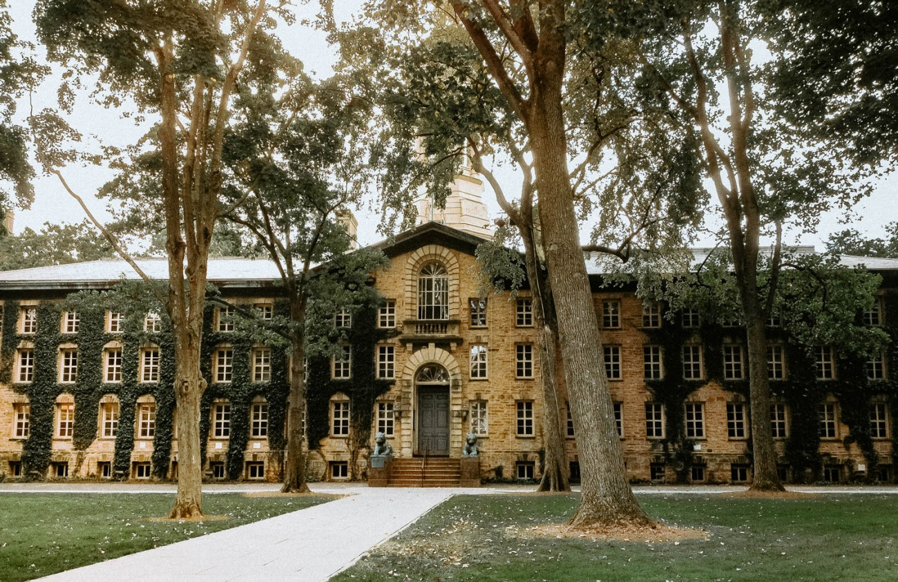 Princeton University entrance building on Main Street